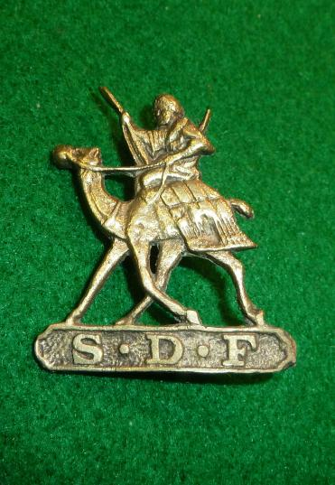 INDIAN SUDAN DEFENCE FORCE HEAD DRESS BADGE