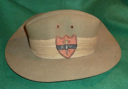 WW2 14th ARMY SLOUCH HAT DATED 1942