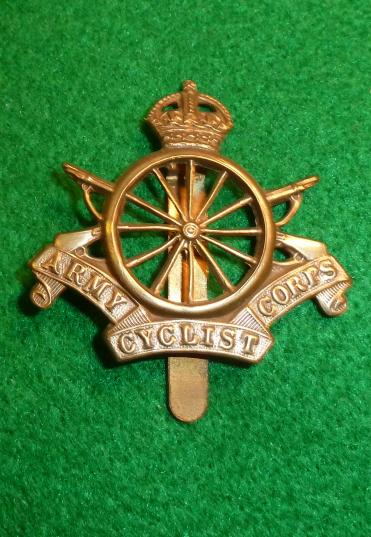 ARMY CYCLIST CORPS 12 [spoke] CAP BADGE