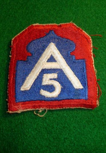 WW2 USA 5th ARMY FORMATION PATCH