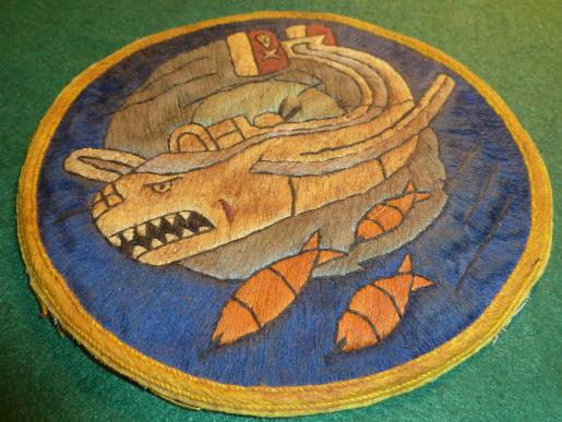 WW2 USAAF 90th BOMB GROUP [JOLLY ROGER] 320th BOMBARDMENT [MOBY DICK] SQUADRON PATCH