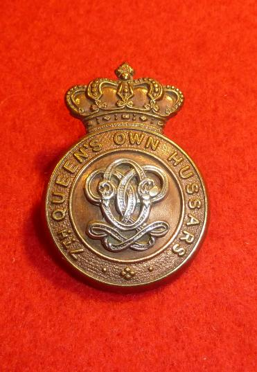 VICTORIAN 7th QUEENS OWN HUSSARS CAP BADGE