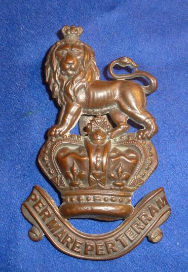 VICTORIAN ROYAL MARINE VALISE POUCH BADGE
