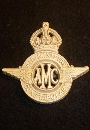 WW2 AIR MINISTRY CONSTABULARY PLASTIC ECONOMY CP BADGE