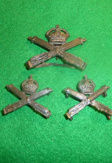 WW1 MACHINE GUN CORPS OFFICERS CAP / COLLAR BADGE.