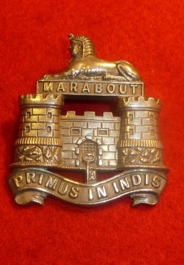VICTORIAN OFFICERS 2nd BATTALION DORSETSHIRE POST 1894 FORAGE CAP BADGE