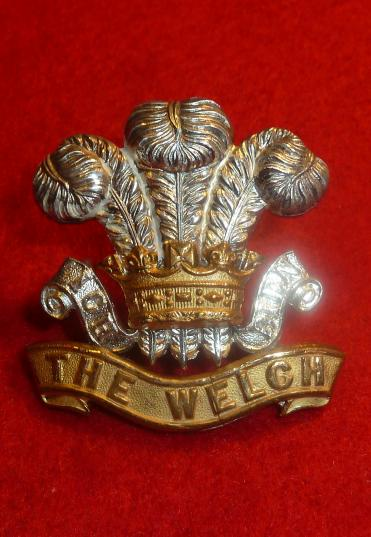THE WELSH REGIMENT OFFICERS CAP BADGE